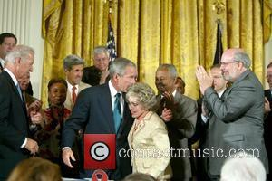 George W Bush and Mrs. Tom Lantos