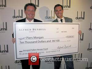 Piers Morgan and Julien Dumont Alfred Dunhill debate at the newly opened Madison Avenue store New York City, USA -...