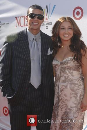 Daddy Yankee and Aundrea Fimbres The 2008 ALMA Awards - Arrivals held at the Pasadena Civic Auditorium Los Angeles, CA...