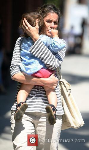 Amanda Peet and her daughter Frances Pen Benioff out and about in Beverly Hills Los Angeles, California - 07.08.08