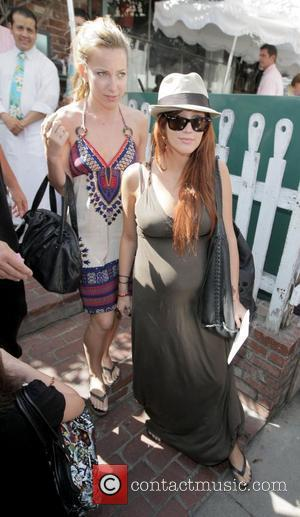 Ashlee Simpson and Friend
