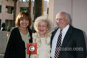 Valerie Harper, Betty White, and Ed Asner arriving at the ATAS Honors Betty White Celebrating 60 Years on Television at...