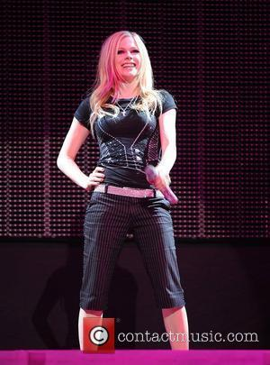 Avril Lavigne performing live in concert at the O2 Arena London, England - 04.06.08