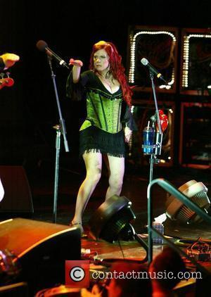 Kate Pierson of the B 52's performing live as part of Pride Week. At the DAR Constitution Hall  Washington...