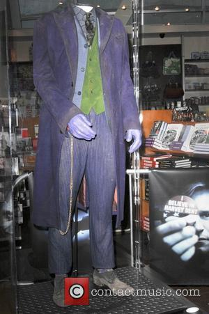 Original Joker Costume worn by the late Heath Ledger displayed inside the Arclight Theater Los Angeles, California - 07.22.2008