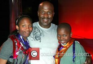 BeBe Winans and his children, Maya Winans and Benjamin Winans Gospel singer BeBe Winans visits the cast of the Broadway...