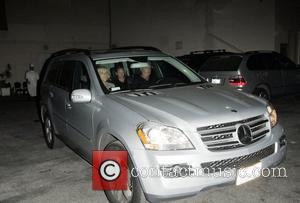 Sandra Beckham, Ted Beckham and Louise Adams Leave Maestro's restaurant after having dinner with their son David and his wife...