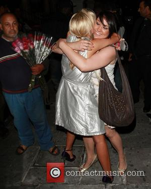 Rebecca Shiner and Stephanie McMichael of Big Brother 9 reunite outside Boujis Nightclub London, England - 29.07.08