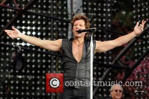 Jon Bon Jovi Bon Jovi performing a free concert on the Great Lawn in Central Park presented by the Bank...