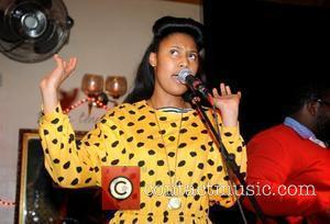 V V Brown performs at a charity fund raiser event aiming to buy 500 blankets for Zimbabwaen Refugees who are...