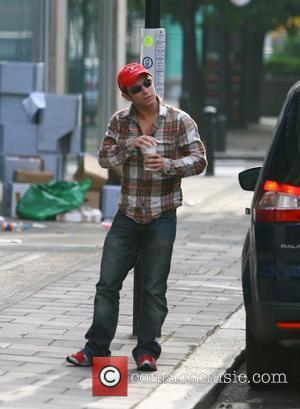 Stephen Gately from Boyzone arriving at the BBC Radio One studios London, England - 29.05.08