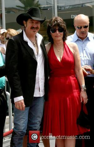 Kix Brooks and wife Barbara Brooks Brooks and Dunn receive a star on the Hollywood Walk of Fame on Hollywood...