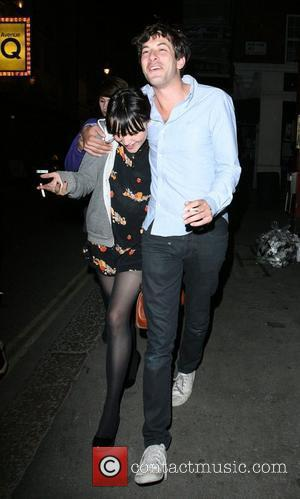 Mark Ronson arrives at Bungalow 8 Nightclub with a group of female friends London, England - 18.07.08