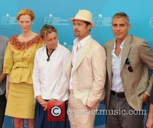Tilda Swinton and Brad Pitt
