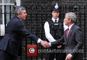George W. Bush meets Gordon Brown at 10 Downing Street. London, England - 15.06.08