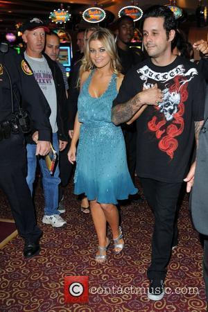 Carmen Electra and fiance Rob Patterson
