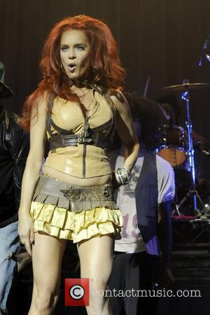 Carmit Bachar  performing in the Zodiac Show at the Avalon Theatre. Hollywood, California - 09.09.08