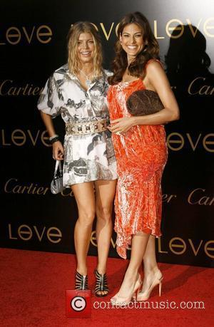 Fergie and Eva Mendes Cartier Charity Love Bracelet Launch - Arrivals held at a Private Residence  Los Angeles, California...
