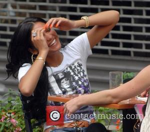 Cassie having lunch at Bar Pitti restaurant with a friend New York City, USA - 14.07.08