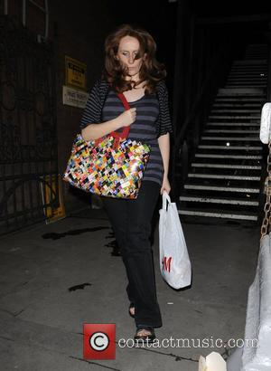 Catherine Tate leaving the Duke of York Theatre, after her performance in 'Under The Blue Sky'. It seemed as if...