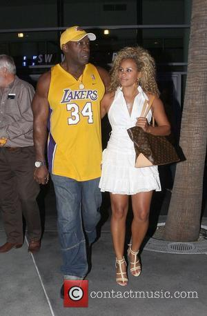 Michael Clarke Duncan Leaving the Lakers games Los Angeles, California - 29.05.08