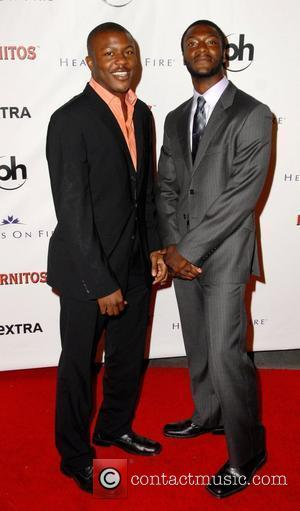 Aldis Hodge and Brother  'Extra 15th Anniversary Party' held at the Storke in Hollywood - inside arrivals  Los Angeles, California...