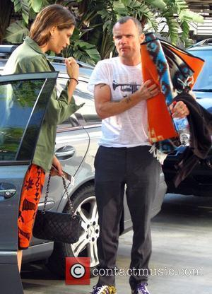 Flea of the Red Hot Chilli Peppers arriving at the LA Lakers game Los Angeles, California - 29.05.08