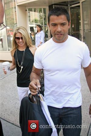 Kelly Ripa and her husband Mark Consuelos leaving ABC Studios after hosting 'Live with Regis and Kelly' New York City,...