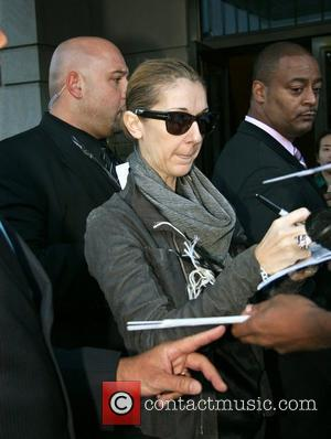 Celine Dion signs autographs for fans after leaving her Manhattan hotel with her husband New York City, USA - 18.09.08
