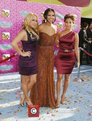 Sabrina Bryan, Kiely Williams and Adrienne Bailon of 'The Cheetah Girls' The Los Angeles Premiere of 'The Cheetah Girls One...