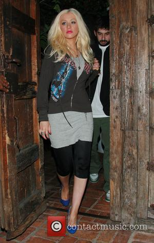 Christina Aguilera and husband Jordan Bratman leaving the Little Door restaurant in West Hollywood after having a late dinner Los...