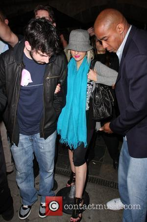 Jordan Bratman and Christina Aguilera  leaving 'The Abbey' nightclub on Robertson Boulevard Los Angeles, California - 29.05.08