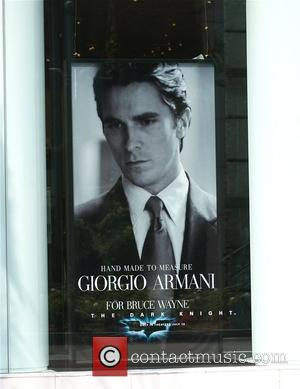 Christian Bale in an advert for Giorgio Armani, as part of The Dark Knight Batman film London, England - 11.07.08