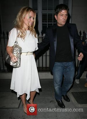 Geri Halliwell leaving Cipriani Restaurant with Kenny Goss. London, England - 04.06.08