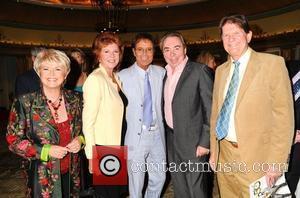 Gloria Hunniford, Cilla Black, Sir Cliff Richard, Lloyd Webber and John Madejski Cliff Richard's 50th Anniversary Tribute Lunch at the...