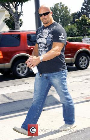 Stone Cold Steve Austin former professional wrestler out and about in West Hollywood Los Angeles, California - 26.08.08