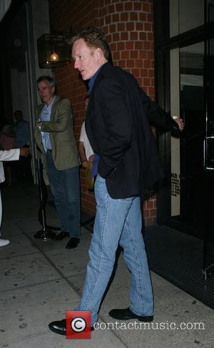 Conan O Brien  leaving Mr. Chow in Beverly Hills with his wife Los Angeles, California - 03.07.08