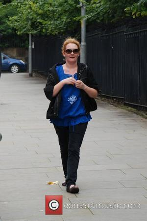 Jenny Mcalpine arriving to film scenes for coronation street at Granada Studios. Manchester, England - 04.08.08