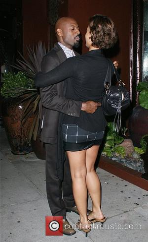 Romany Malco with his wife outside Crustacean restaurant in Beverly Hills Los Angeles, California - 25.06.08