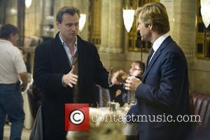 Christopher Nolan and Aaron Eckhart