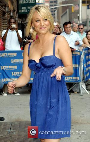 Kaley Cuoco, Cbs and David Letterman