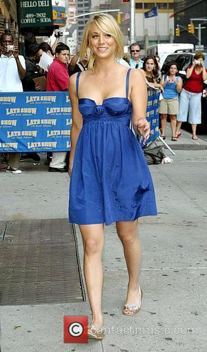 Kaley Cuoco arrives to appear on CBS' 'Late Show With David Letterman' New York City, USA - 23.06.08