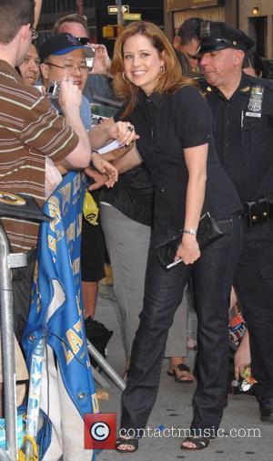 Jenna Fischer, Cbs and David Letterman