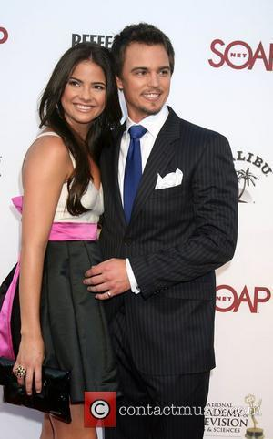 Shelley Hennig & Darin Brooks arriving at the SoapNet Night Before Party for the nominees of the 2008 Daytime Emmy...