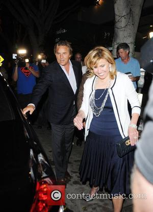 Don Johnson leaving Madeo restaurant with friends Los Angeles, California - 13.08.08
