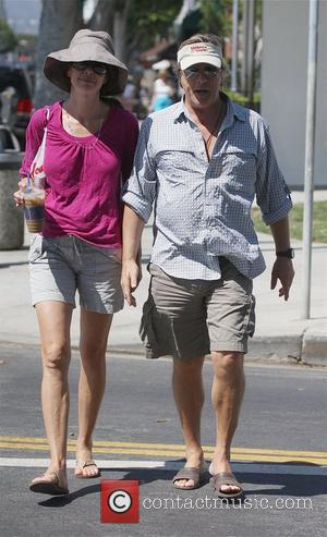 Don Johnson and his wife Kelley Phleger take a walk in LA Los Angeles, California - 17.08.08