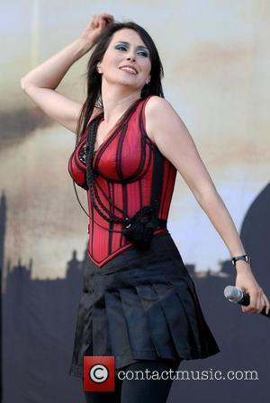 Sharon Den Adel of Within Temptation  Download Festival 2008 - Day Three  Donington Park  Derbyshire, England -...