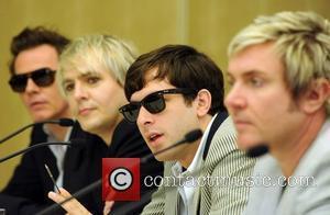 John Taylor, Nick Rhodes, Mark Ronson and Simon Le Bon of Duran Duran at a press conference before the Smirnoff...