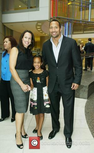 Dwayne Johnson, The Rock With His Ex-wife and Daughter