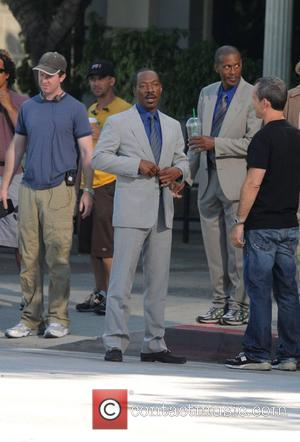 Eddie Murphy filming scenes for his new movie 'A Thousand Words' Los Angeles, California - 23.07.08